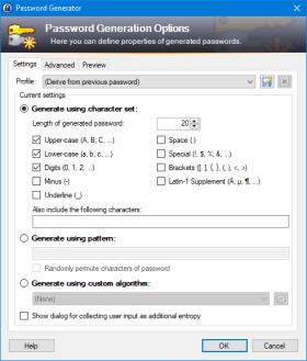 password generator screenshot keepass
